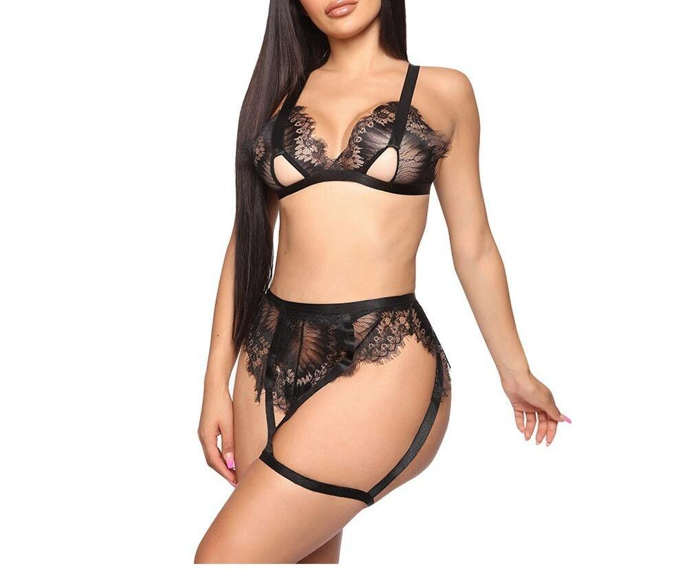 Kya Transparent Lace Lingerie Set - Flexin' Swag
