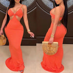 Cassie Spaghetti Strap Maxi Dress freeshipping - Flexin' Swag