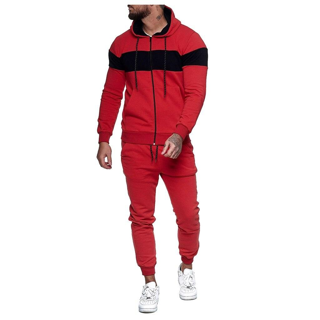 Men's Autumn Two-piece Casual Sweatsuit - Flexin' Swag