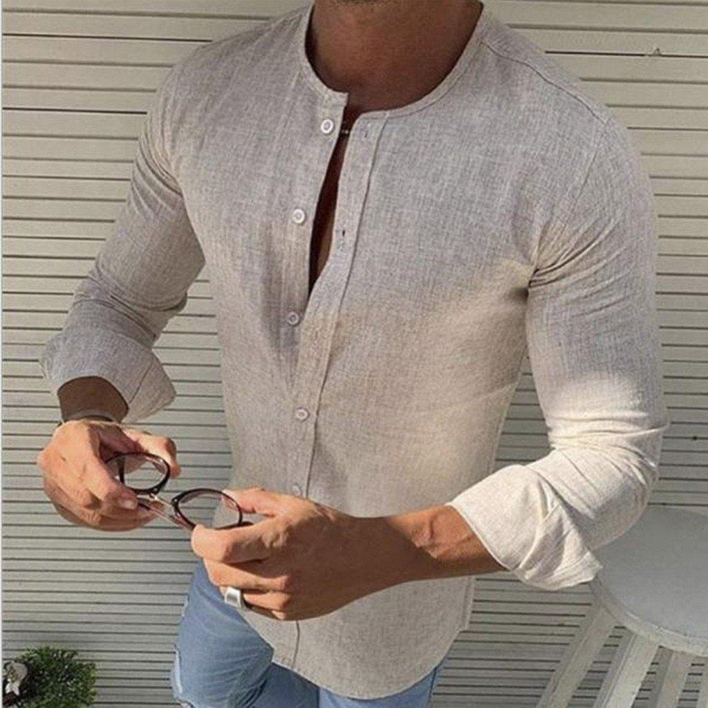 Kyle Slim Fit Long Sleeve Shirt - Flexin' Swag