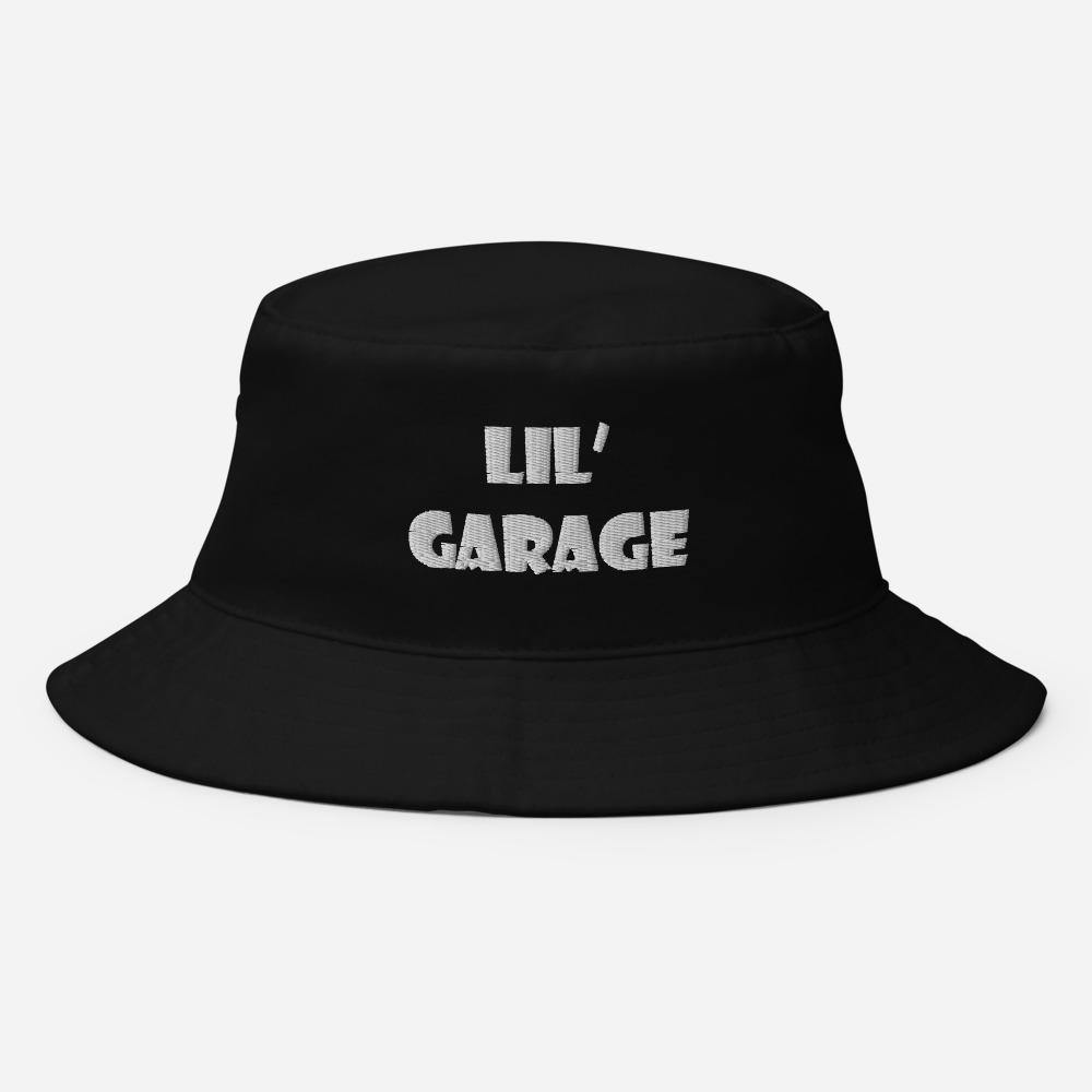 """Lil' Garage"" Bucket Hat in White Letters - Flexin' Swag"
