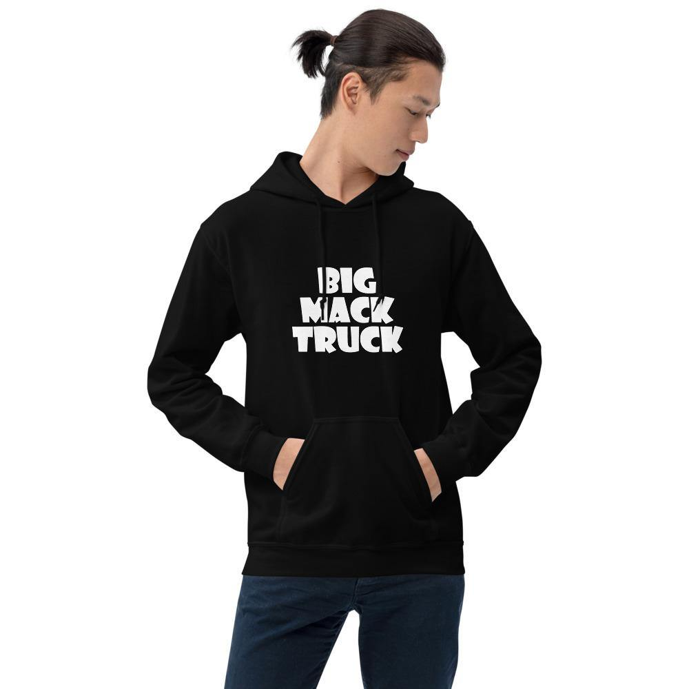 """Big Mack Truck"" Hoodie with White Letters - Flexin' Swag"