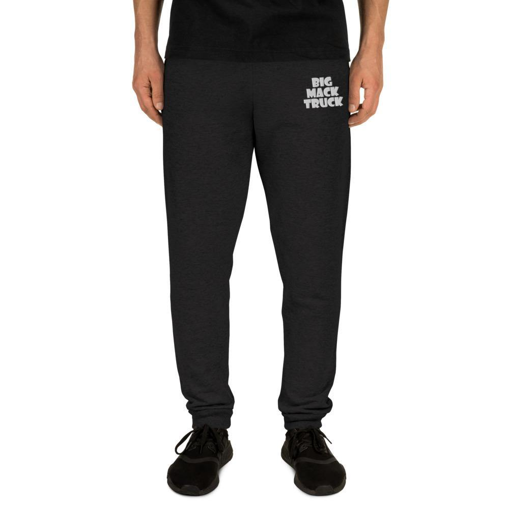 """Big Mack Truck"" Unisex Joggers with White Letters - Flexin' Swag"