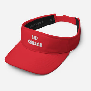 """Lil Garage"" Visor in White Letters - Flexin' Swag"