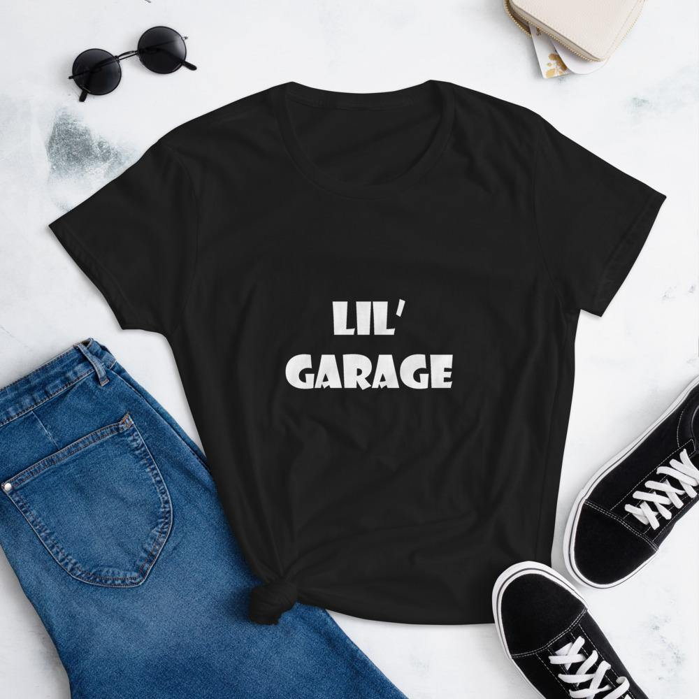 """Lil' Garage"" Short Sleeve T-Shirt in White Letters - Flexin' Swag"
