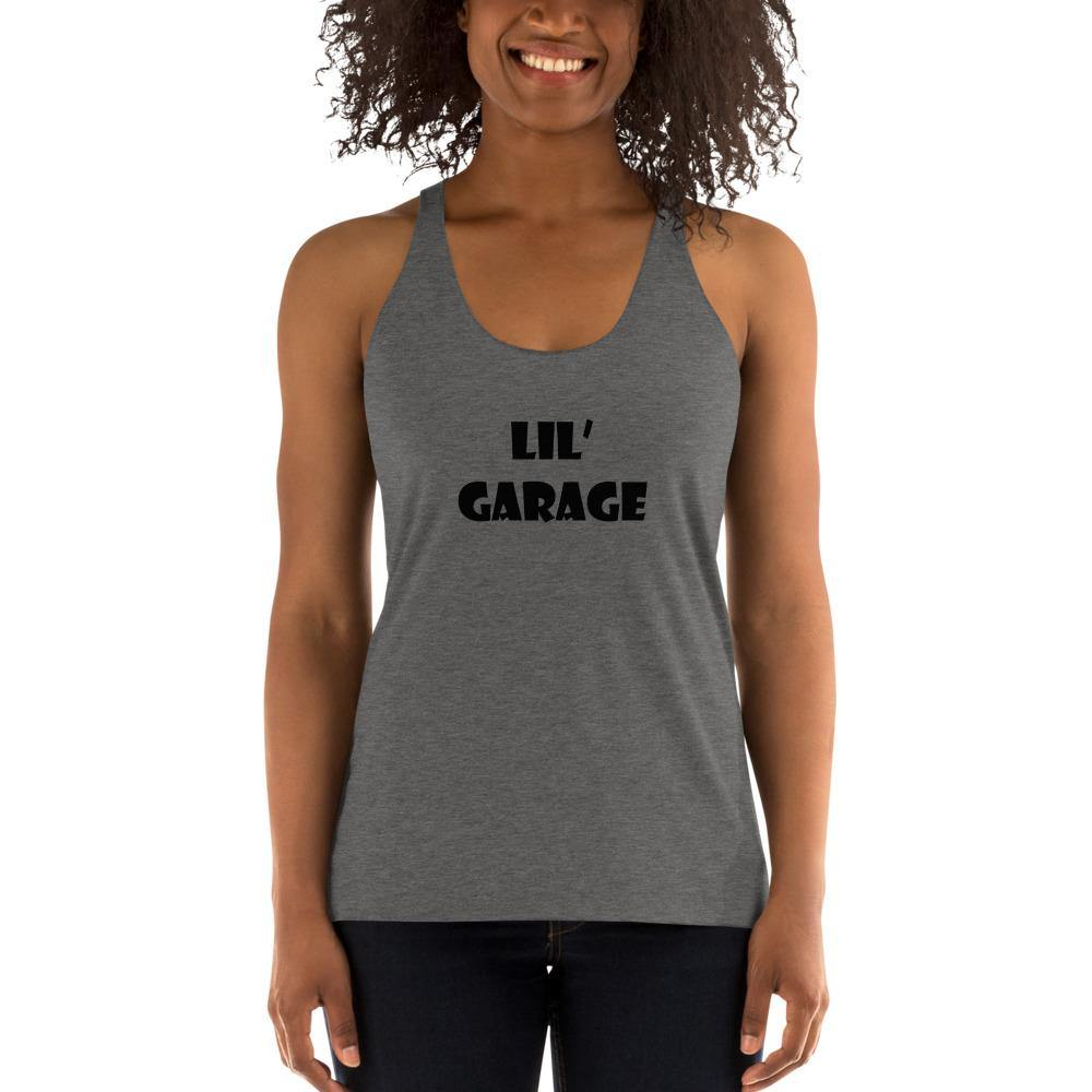 "Women's Grey ""Lil' Garage"" Racerback Tank - Flexin' Swag"