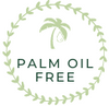 Green circle palm oil free value logo with palm tree