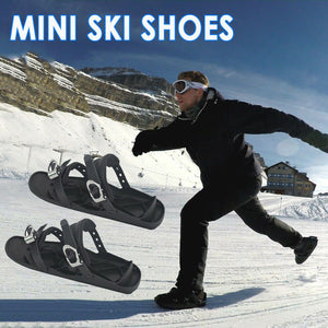 Mini Skis-Ice Skating On Snow