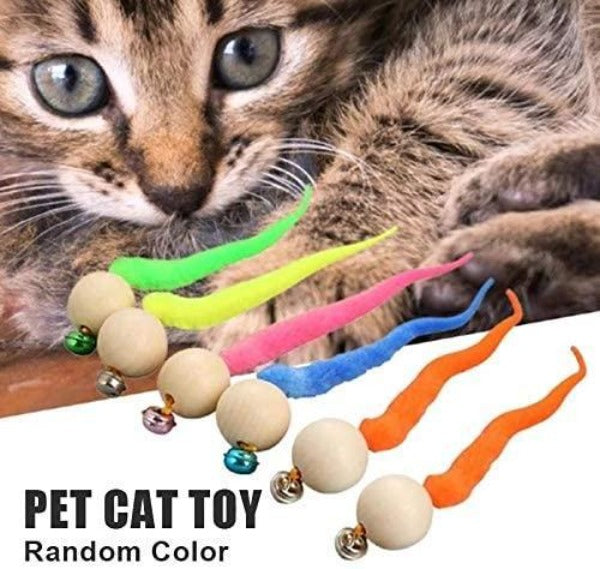 Wiggly Balls Cat Bell Toy