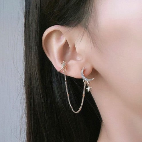 moon motif ear cuff pierce  KSG208
