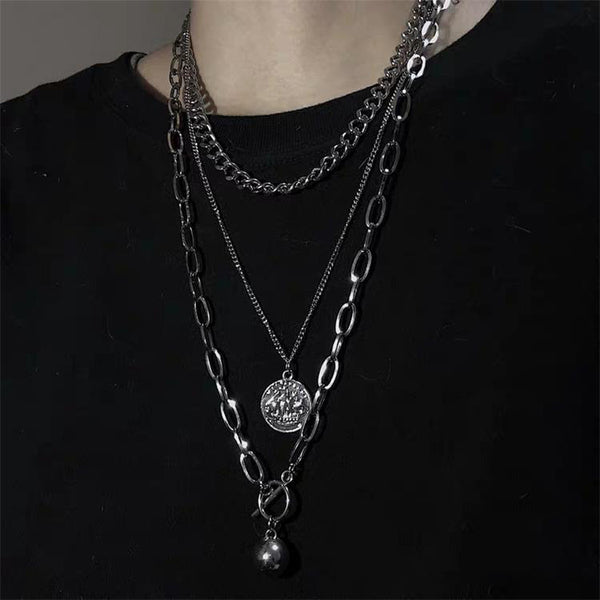【ランキング2位】triple chain necklace KSG155
