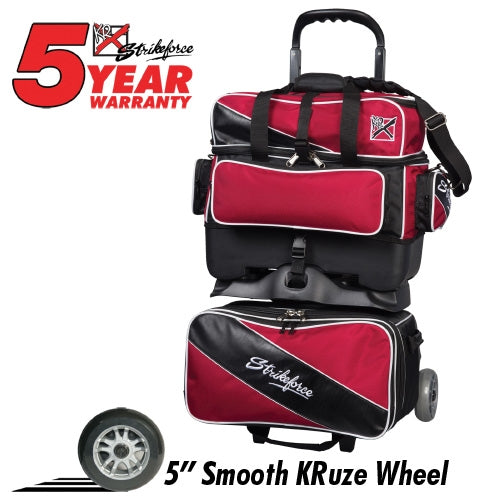 KR Strikeforce Fast 4-Ball Roller Brick Red/Black