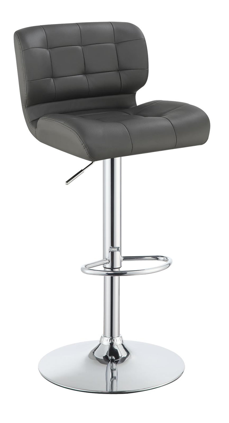 G100545 Contemporary White and Chrome Upholstered Bar Stool image