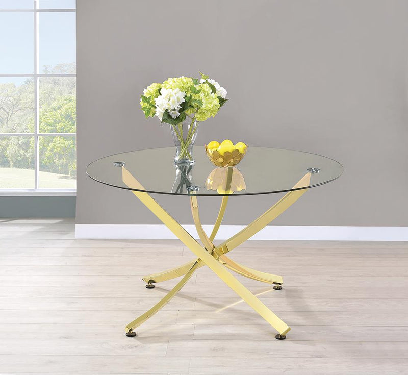Chanel Modern Brass Dining Table image