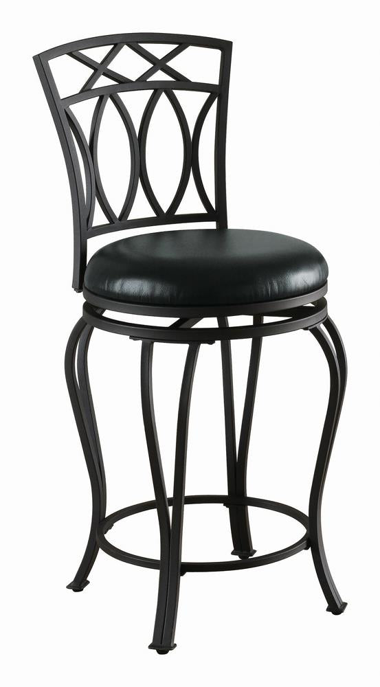 G122059 Casual Black Metal Counter Stool image