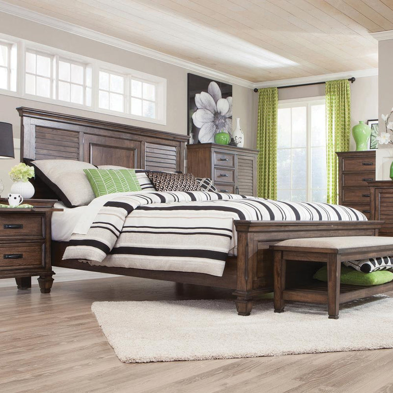 Franco Burnished Oak Eastern King Bed image