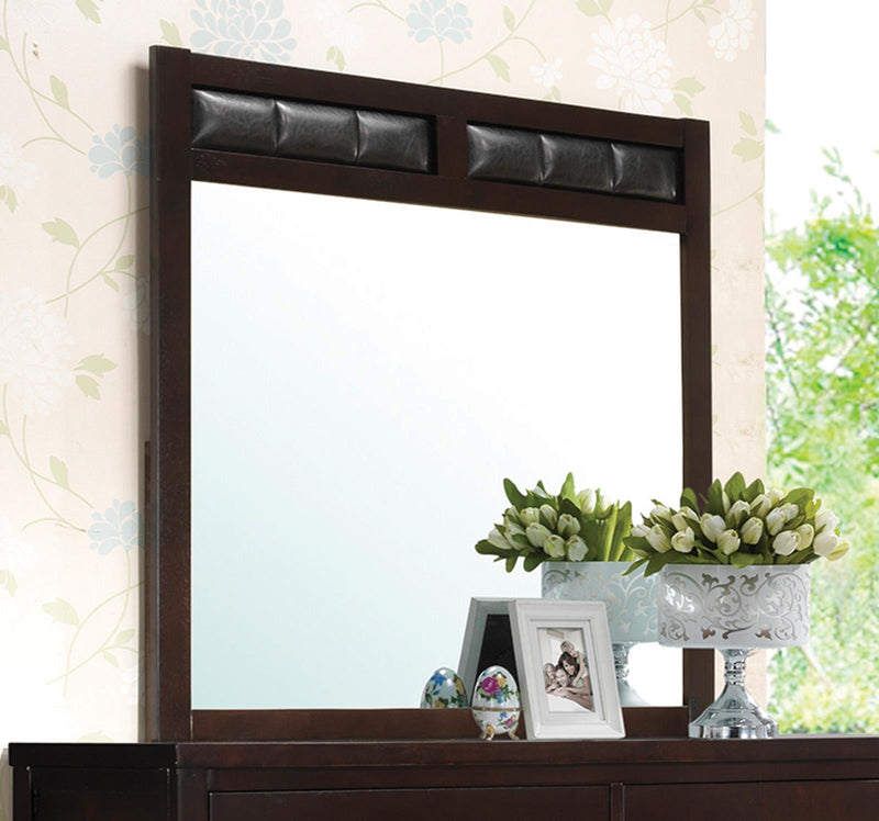 Carlton Black Upholstered Dresser Mirror image