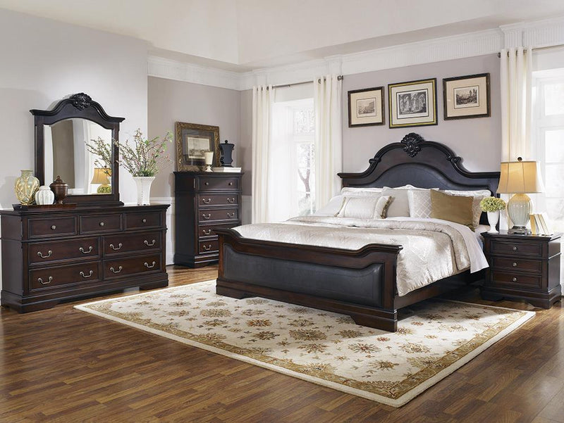 Cambridge Traditional Dark Brown Queen Four-Piece Set image
