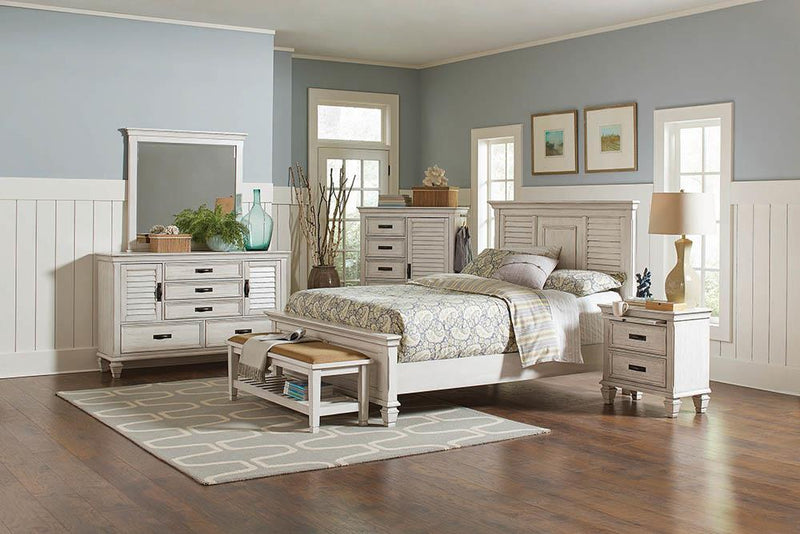 Franco Antique White Queen Bed image
