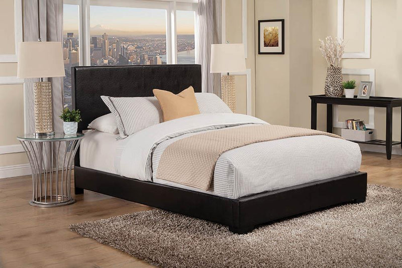 Conner Casual Black Upholstered California King Bed image