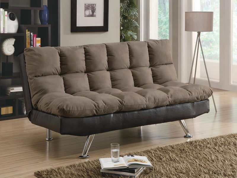 G300306 Casual Overstuffed Brown Sofa Bed image