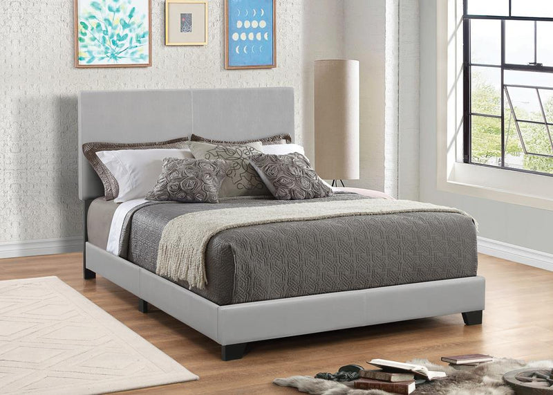 Dorian Grey Faux Leather Upholstered King Bed image