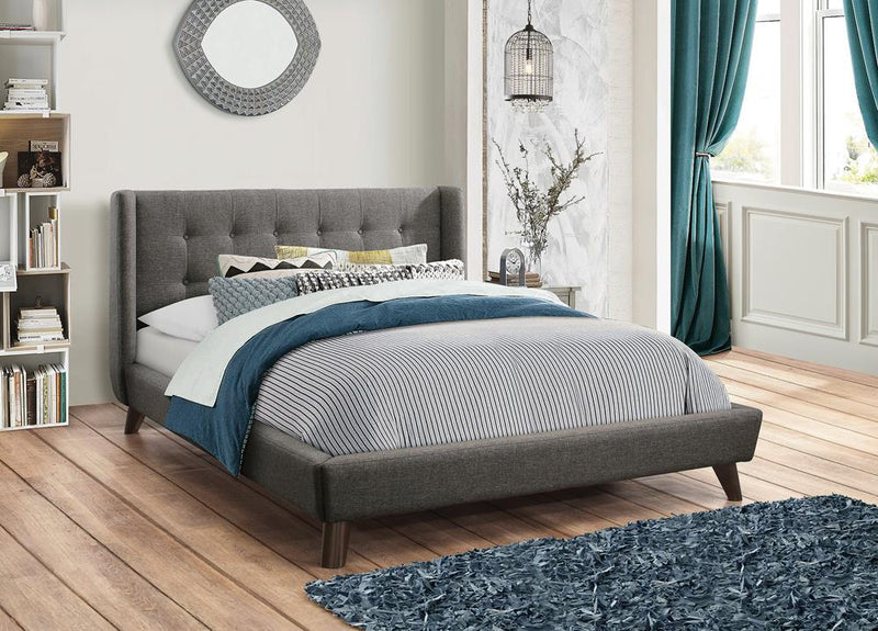 Carrington Grey Upholstered King Bed image