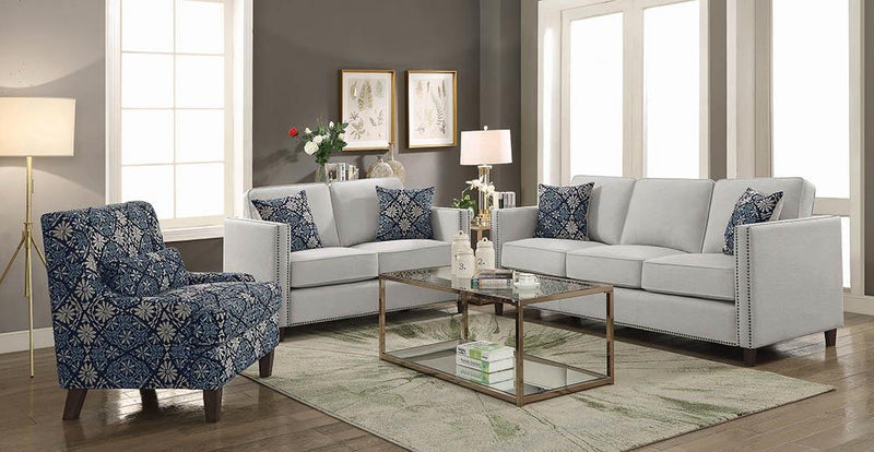Coltrane Transitional Indigo Accent Chair image