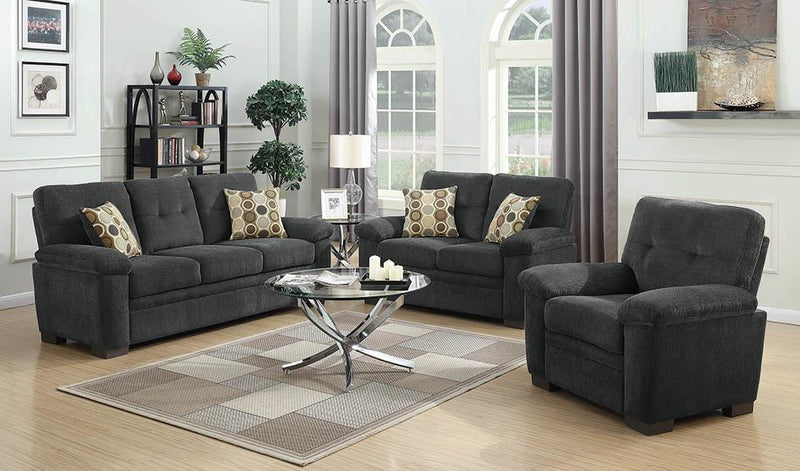Fairbairn Casual Charcoal Three-Piece Living Room Set image