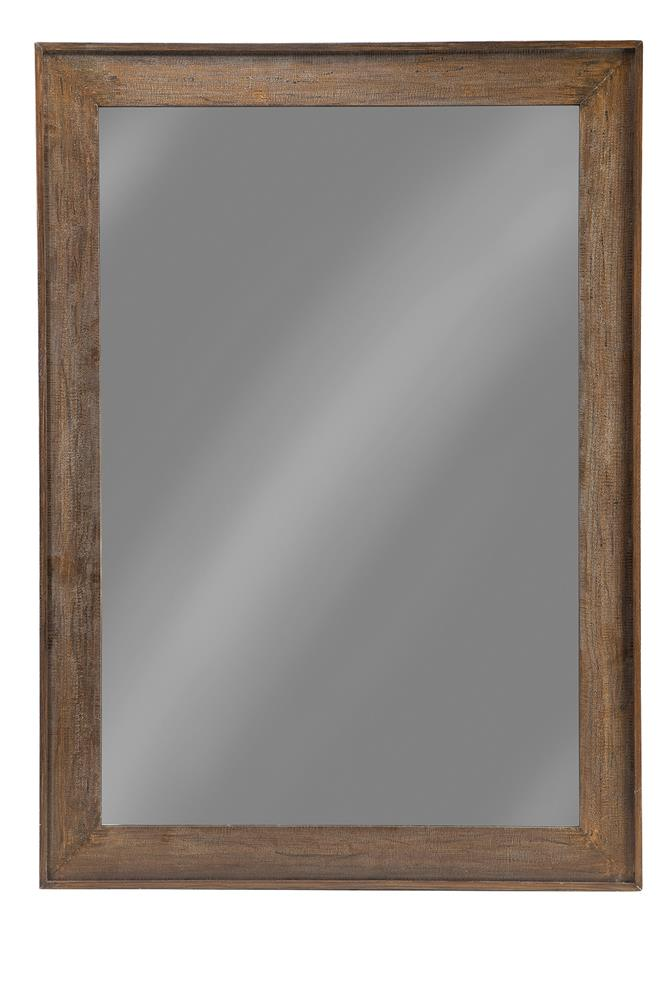 Distressed Brown Accent Mirror image