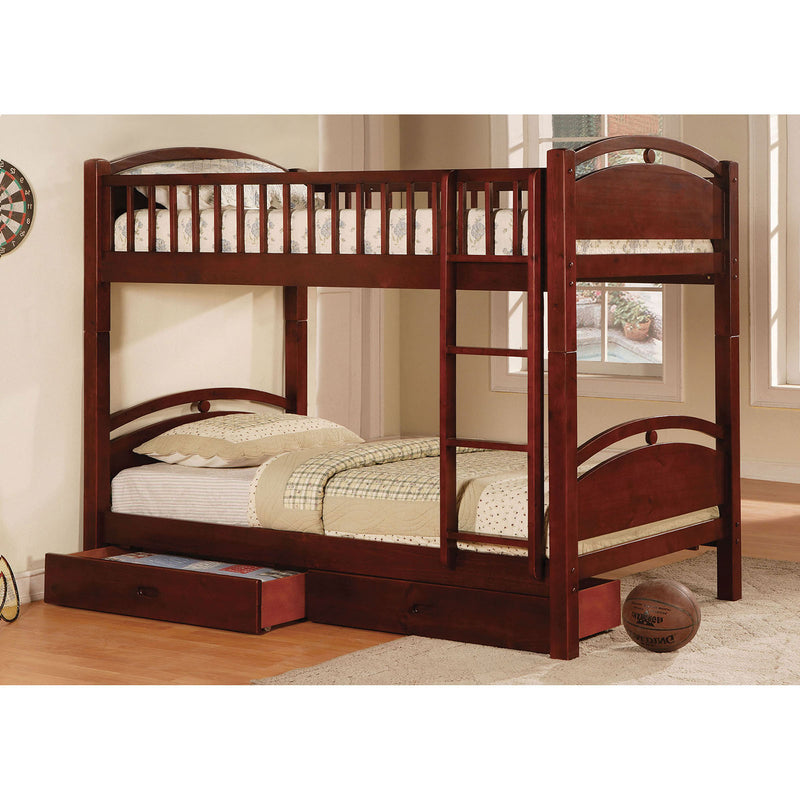 California I Cherry Twin/Twin Bunk Bed w/ 2 Drawers image
