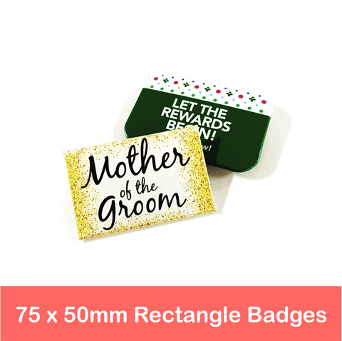 75mm x 50mm Rectangle Badges | Made in Australia