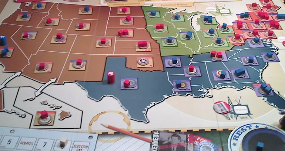 1960: The Making of the President Board Game Gameplay