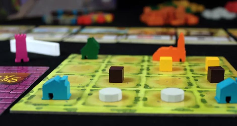Tiny Towns Board Game Gameplay Setup