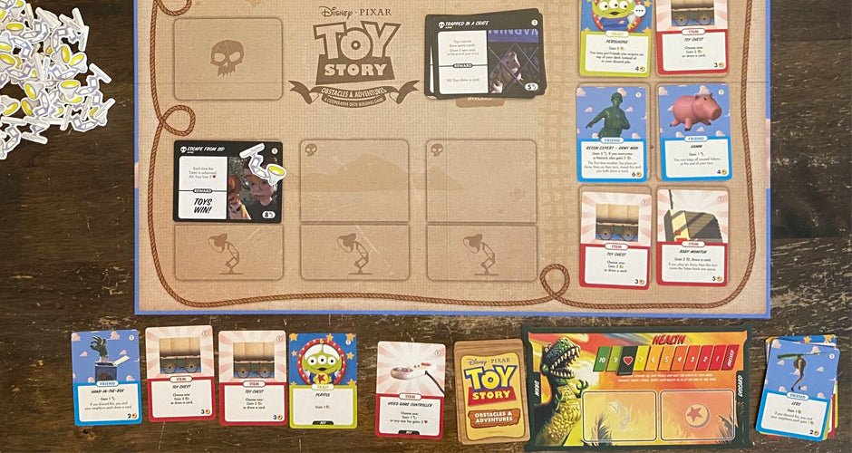 Toy Story: Obstacles and Adventures Deckbuilding Game Gameplay Setup