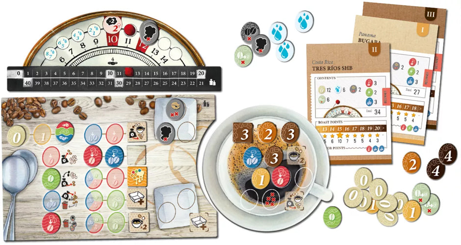 Coffee Roaster Game Components