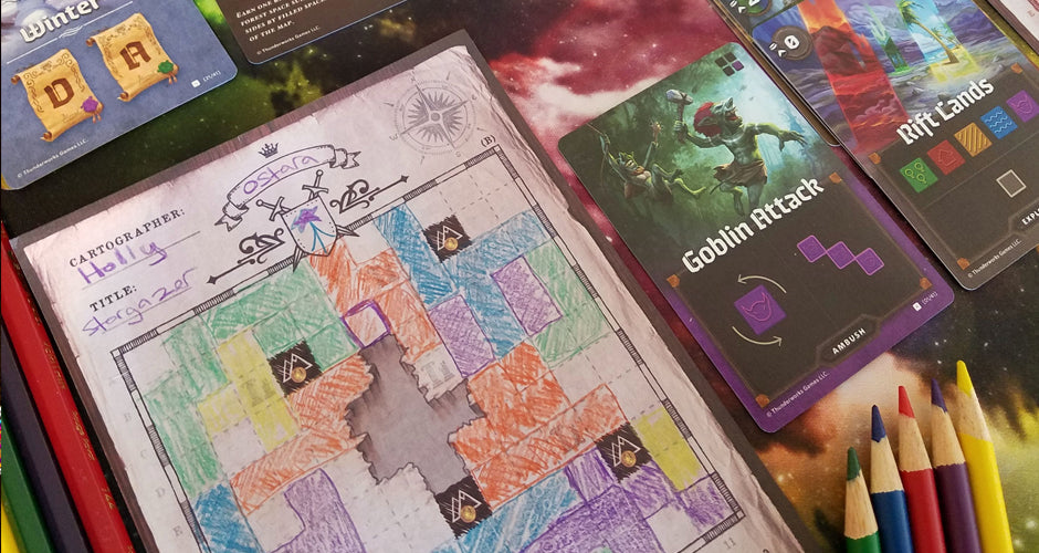 Cartographers Board Game During Play