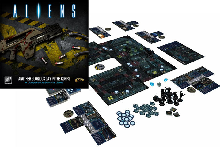 Aliens: Another Glorious Day in the Corps Board Game Setup