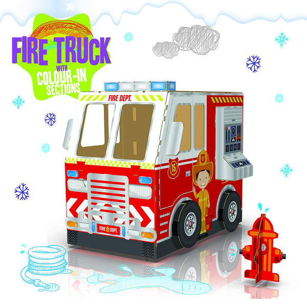 Fire Truck COLOUR-IN (Part Coloured)