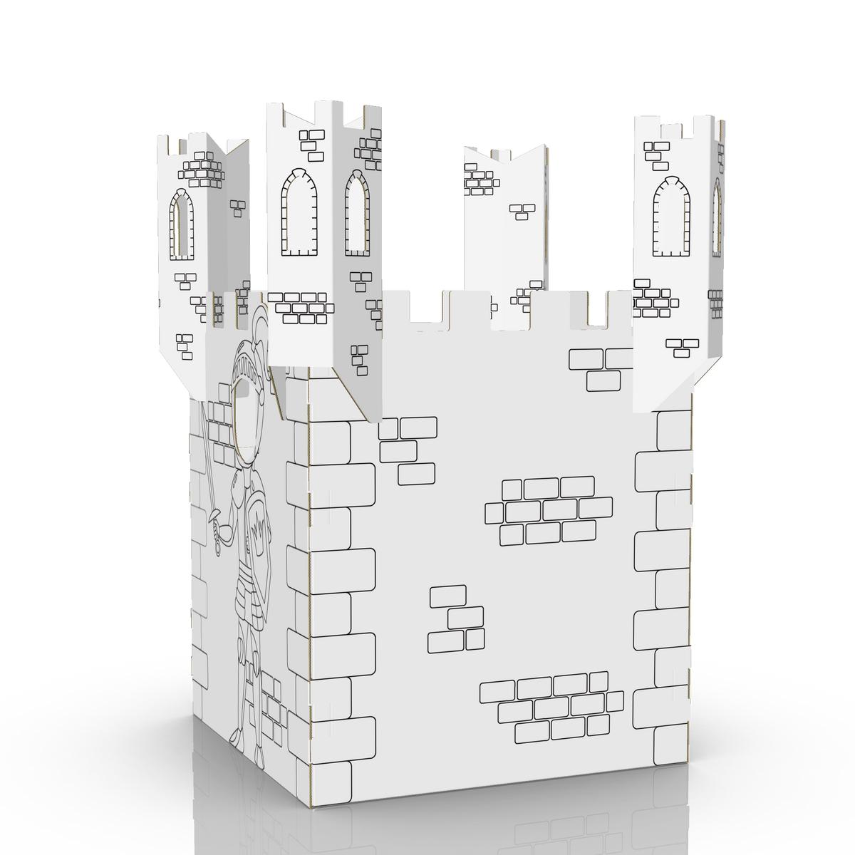 COLOUR-IN KNIGHT'S CASTLE