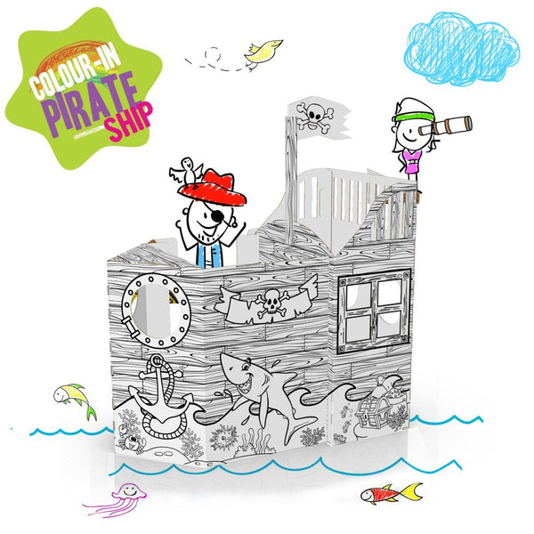 COLOUR-IN PIRATE SHIP