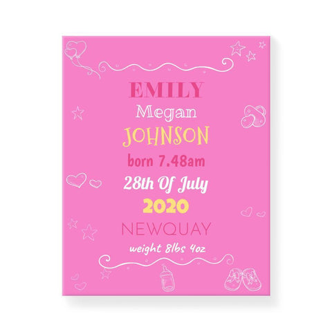 Baby Icons Pink (Personalised)