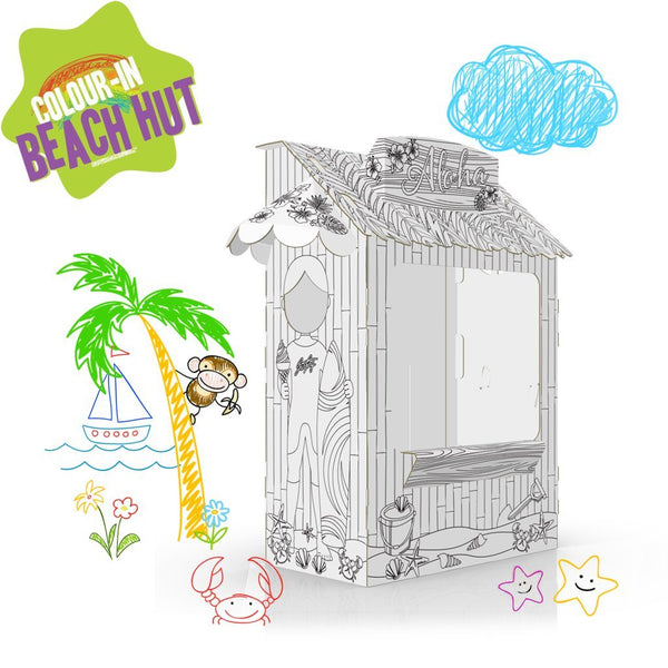 COLOUR-IN BEACH HUT