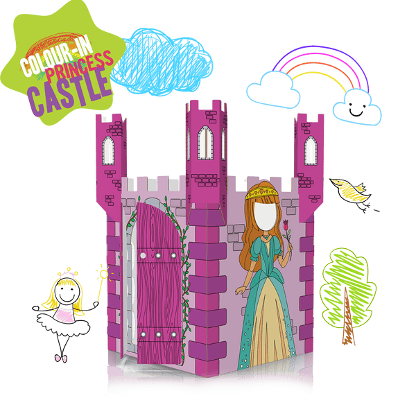 COLOUR-IN PRINCESS CASTLE