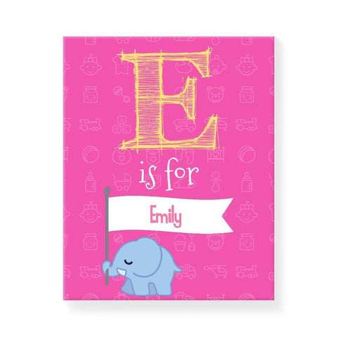Elephant with Banner Pink (Personalised)