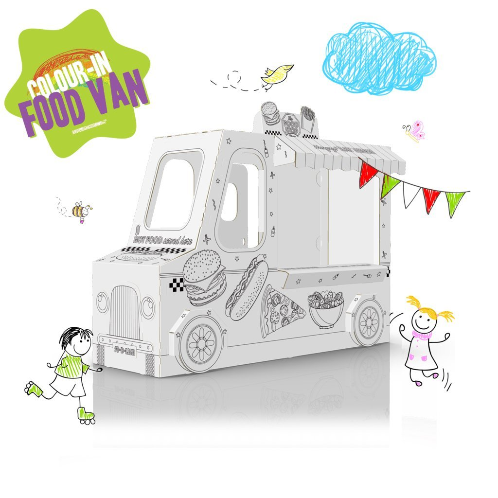 COLOUR-IN BURGER VAN