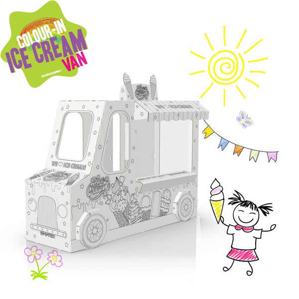 COLOUR-IN ICE-CREAM VAN