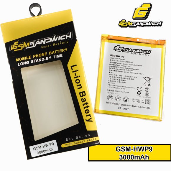GSMSANDWICH Super Battery HW HB366481ECW P9