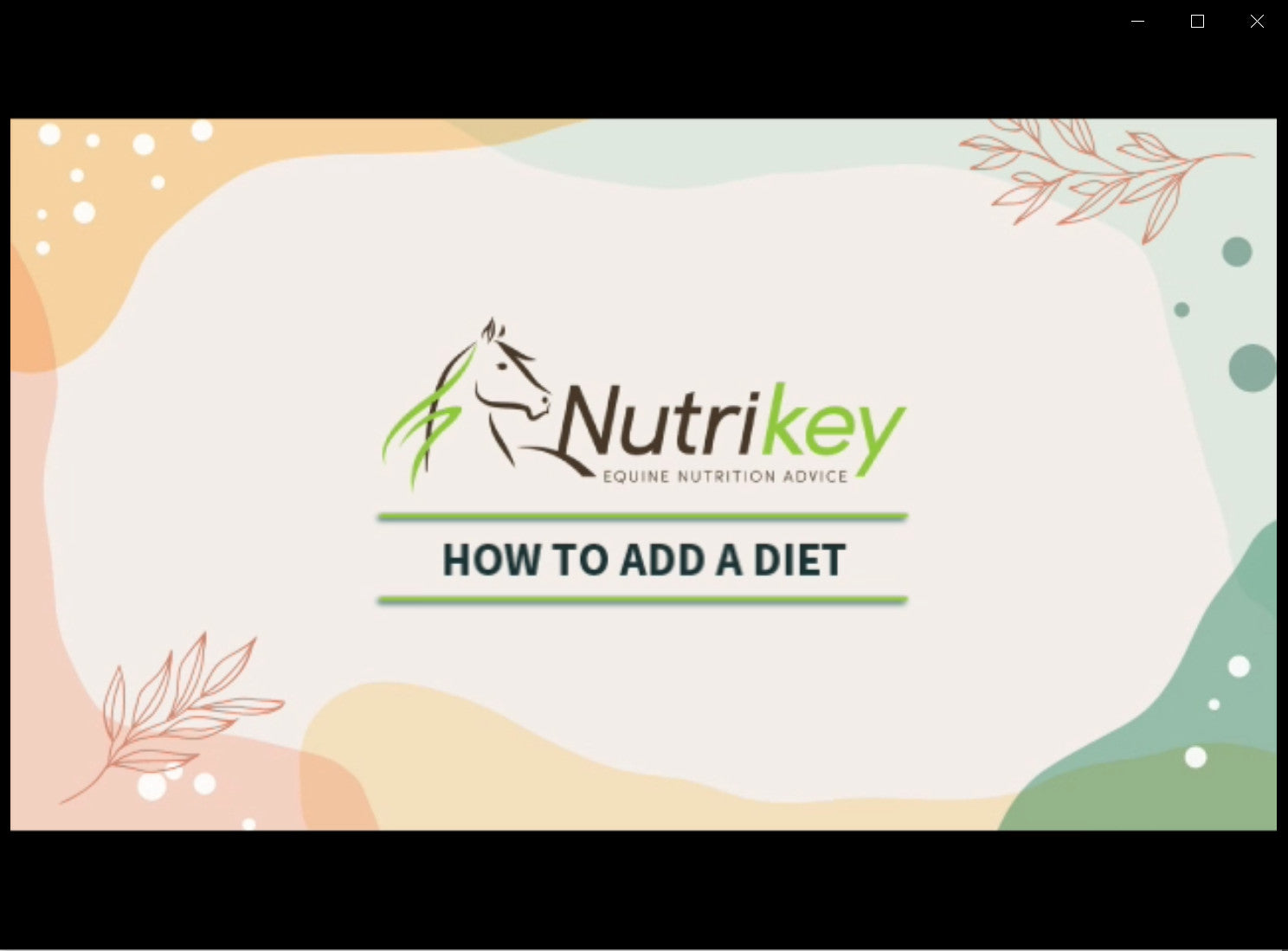 How to add a diet