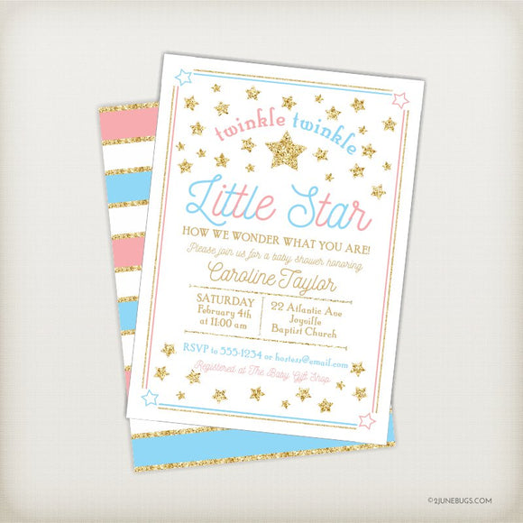 Personalized Baby Shower Invitations - Digital or Printed